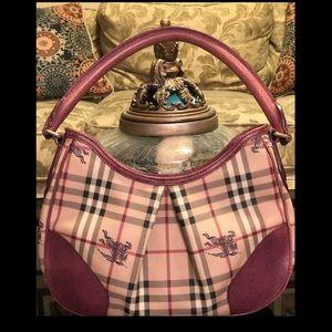 Burnerrys Nova Check Shoulder Handbag